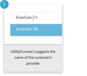 How UtilityConnect works - Step 1